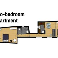 Large Two-Bedroom Apartment (4-6 Adults)