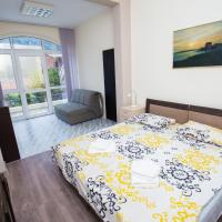 Double bed room with Sofa and Bay View