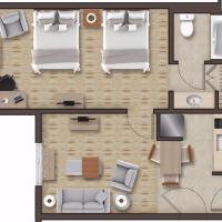 Queen Suite with Two Queen Beds - Mobility/Hearing Accessible