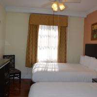Two Double Beds with Shared Bathroom