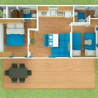 Superior Two-Bedroom Mobile Home with Terrace