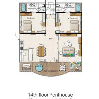 3 Bedroom Panorama Penthouse Suite