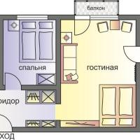 Two-bedroom apartment at Bolshaya Gruzinskaya, 62