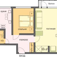 One-bedroom apartment at Bolshaya Gruzinskaya, 63