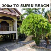 House 300 m to Phuket beach Surin 2 br