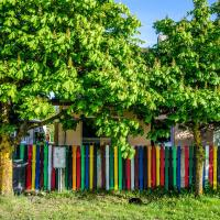 Colourfull fence apartment